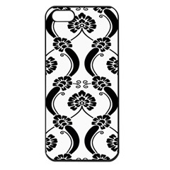 Flower Floral Black Sexy Star Black Apple Iphone 5 Seamless Case (black)