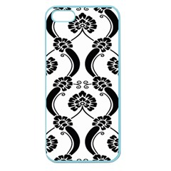 Flower Floral Black Sexy Star Black Apple Seamless Iphone 5 Case (color)