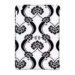 Flower Floral Black Sexy Star Black Apple Ipad Mini Hardshell Case (compatible With Smart Cover)