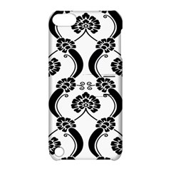 Flower Floral Black Sexy Star Black Apple Ipod Touch 5 Hardshell Case With Stand