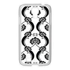 Flower Floral Black Sexy Star Black Samsung Galaxy S4 I9500/ I9505 Case (white)