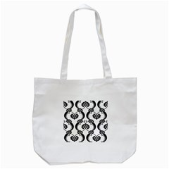 Flower Floral Black Sexy Star Black Tote Bag (white)