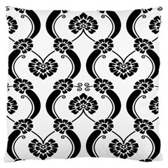 Flower Floral Black Sexy Star Black Large Flano Cushion Case (two Sides)