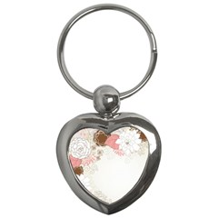 Flower Floral Rose Sunflower Star Sexy Pink Key Chains (heart)