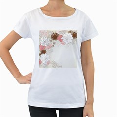 Flower Floral Rose Sunflower Star Sexy Pink Women s Loose Fit T Shirt (white)