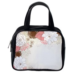 Flower Floral Rose Sunflower Star Sexy Pink Classic Handbags (one Side)