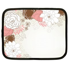 Flower Floral Rose Sunflower Star Sexy Pink Netbook Case (xxl)
