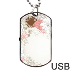 Flower Floral Rose Sunflower Star Sexy Pink Dog Tag Usb Flash (two Sides)