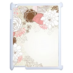 Flower Floral Rose Sunflower Star Sexy Pink Apple Ipad 2 Case (white)