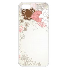 Flower Floral Rose Sunflower Star Sexy Pink Apple Iphone 5 Seamless Case (white)
