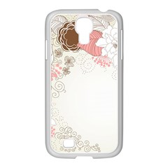 Flower Floral Rose Sunflower Star Sexy Pink Samsung Galaxy S4 I9500/ I9505 Case (white)