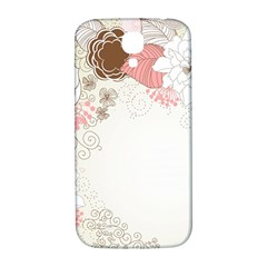 Flower Floral Rose Sunflower Star Sexy Pink Samsung Galaxy S4 I9500/i9505  Hardshell Back Case