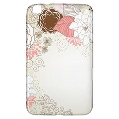 Flower Floral Rose Sunflower Star Sexy Pink Samsung Galaxy Tab 3 (8 ) T3100 Hardshell Case