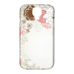 Flower Floral Rose Sunflower Star Sexy Pink Samsung Galaxy S4 Classic Hardshell Case (pc+silicone)