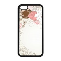 Flower Floral Rose Sunflower Star Sexy Pink Apple Iphone 5c Seamless Case (black)