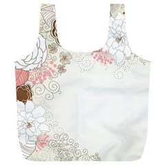 Flower Floral Rose Sunflower Star Sexy Pink Full Print Recycle Bags (l)