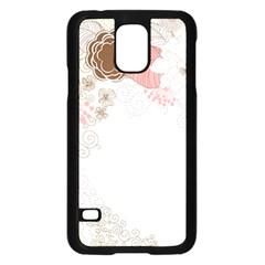 Flower Floral Rose Sunflower Star Sexy Pink Samsung Galaxy S5 Case (black)