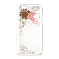 Flower Floral Rose Sunflower Star Sexy Pink Apple Iphone 6/6s White Enamel Case