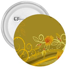 Flower Floral Yellow Sunflower Star Leaf Line Gold 3  Buttons