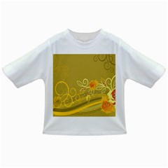 Flower Floral Yellow Sunflower Star Leaf Line Gold Infant/toddler T Shirts
