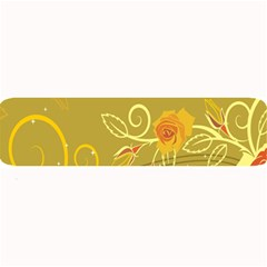 Flower Floral Yellow Sunflower Star Leaf Line Gold Large Bar Mats