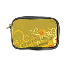 Flower Floral Yellow Sunflower Star Leaf Line Gold Coin Purse