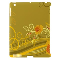 Flower Floral Yellow Sunflower Star Leaf Line Gold Apple Ipad 3/4 Hardshell Case (compatible With Smart Cover)