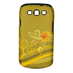 Flower Floral Yellow Sunflower Star Leaf Line Gold Samsung Galaxy S Iii Classic Hardshell Case (pc+silicone)