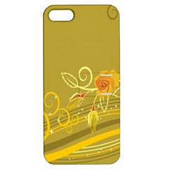 Flower Floral Yellow Sunflower Star Leaf Line Gold Apple Iphone 5 Hardshell Case With Stand