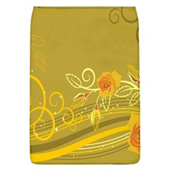 Flower Floral Yellow Sunflower Star Leaf Line Gold Flap Covers (l)