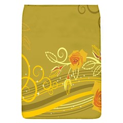Flower Floral Yellow Sunflower Star Leaf Line Gold Flap Covers (s)