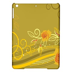 Flower Floral Yellow Sunflower Star Leaf Line Gold Ipad Air Hardshell Cases