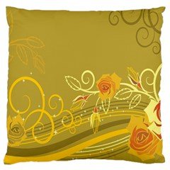 Flower Floral Yellow Sunflower Star Leaf Line Gold Standard Flano Cushion Case (one Side)