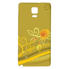 Flower Floral Yellow Sunflower Star Leaf Line Gold Galaxy Note 4 Back Case