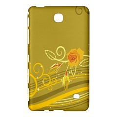 Flower Floral Yellow Sunflower Star Leaf Line Gold Samsung Galaxy Tab 4 (8 ) Hardshell Case