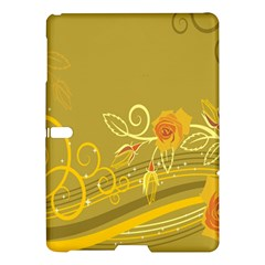 Flower Floral Yellow Sunflower Star Leaf Line Gold Samsung Galaxy Tab S (10 5 ) Hardshell Case