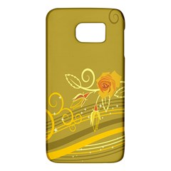 Flower Floral Yellow Sunflower Star Leaf Line Gold Galaxy S6