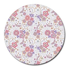 Flower Floral Sunflower Rose Purple Red Star Round Mousepads