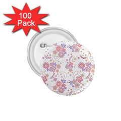 Flower Floral Sunflower Rose Purple Red Star 1 75  Buttons (100 Pack)