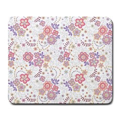 Flower Floral Sunflower Rose Purple Red Star Large Mousepads