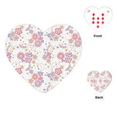 Flower Floral Sunflower Rose Purple Red Star Playing Cards (heart)