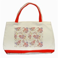 Flower Floral Sunflower Rose Purple Red Star Classic Tote Bag (red)