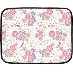 Flower Floral Sunflower Rose Purple Red Star Fleece Blanket (mini)