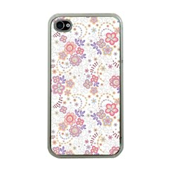 Flower Floral Sunflower Rose Purple Red Star Apple Iphone 4 Case (clear)