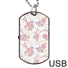 Flower Floral Sunflower Rose Purple Red Star Dog Tag Usb Flash (one Side)