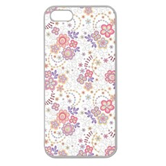 Flower Floral Sunflower Rose Purple Red Star Apple Seamless Iphone 5 Case (clear)