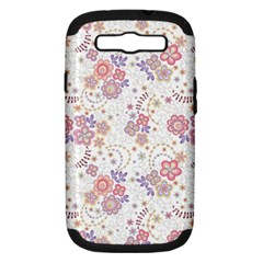Flower Floral Sunflower Rose Purple Red Star Samsung Galaxy S Iii Hardshell Case (pc+silicone)