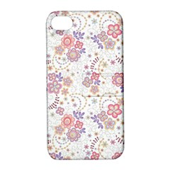 Flower Floral Sunflower Rose Purple Red Star Apple Iphone 4/4s Hardshell Case With Stand