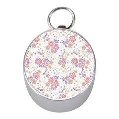 Flower Floral Sunflower Rose Purple Red Star Mini Silver Compasses