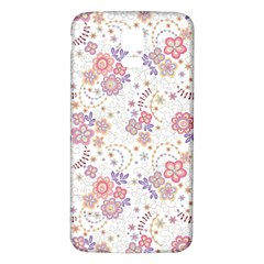 Flower Floral Sunflower Rose Purple Red Star Samsung Galaxy S5 Back Case (white)